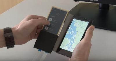 smartphone case with touchscreen display