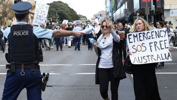 Covid cases are rising in Australia, but people are protesting against lockdowns