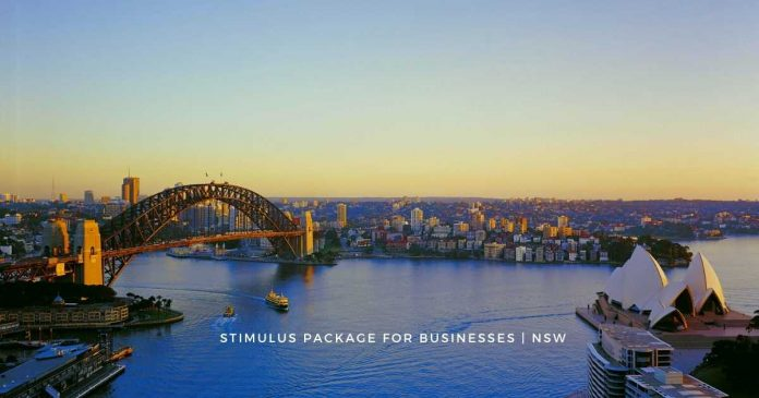 NSW announces stimulus package for affected businesses