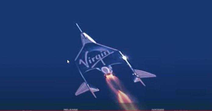 Virgin Galactic spaceship returns from space with Branson, crew